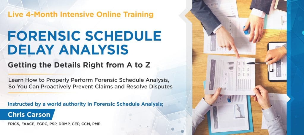 Forensic Schedule Analysis